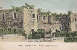 Dominica Postcard Santo Domingo Casa De Cristobal Colon 1914 - Dominica
