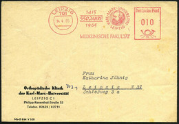701 LEIPZIG/ 1415/ 550 JAHRE/ 1965/ KARL-MARX-UNIVERSITÄT/ MEDIZIN.FAKULTÄT 1965 (14.4.) Jubil.-AFS (Marx-Kopf) Dienst-B - Other