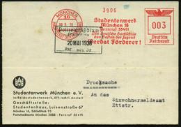 MÜNCHEN/ 16/ HDB/ Studentenwerk/ ..Die Deutsche Hochschule/ Den Besten Der Jugend/ Werdet Förderer! 1938 (19.5.) AFS Auf - Other