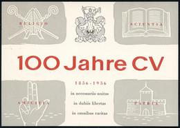 (13b) MÜNCHEN/ 100 Jahre CV/ 70.CARTELL VERSAMMLUNG 1956 (27.7.) SSt (Wappen) Auf Motivgl. PP 10 Pf. + 25 Pf. Heuss: 100 - Other