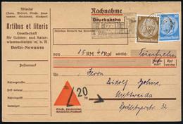 NOWAWES/ ***/ BESUCHT OBERLINSTADT NOWAWES... 1933 (11.11.) MWSt (Schloß Babelsberg) Auf Hindenbg. 3 U. 20 Pf. M.Perfin  - Other