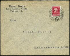 ZWICKAU/ (SACHSEN)/ Jndustriestadt Mit Schule Für Jngenieur-Ausbildung 1927 (29.6.) HWSt = Zahnrad-Logo: I Z , Firmen-Bf - Other