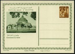 ÄGYPTEN 1954 6 M. BiP Soldat, Braun: Université Du Caire (Universität Kairo) Ungebr., Selten!  - UNIVERSITÄT / HOCHSCHUL - Other