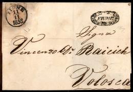 ANTICHI STATI  - LOMBARDO VENETO - TERRITORI ITALIANI D'AUSTRIA - Fiume 11.11.58 + Fiume Recommandirt (P.ti 11) - 3 Kreu - Unclassified