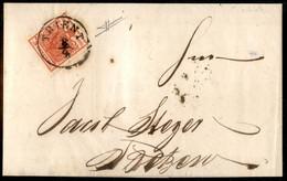 ANTICHI STATI  - LOMBARDO VENETO - TERRITORI ITALIANI D'AUSTRIA - 3 Kreuzer (3a - Carta A Coste Verticali) - Lettera Da  - Unclassified
