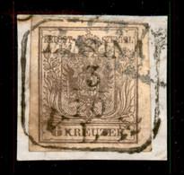 ANTICHI STATI  - LOMBARDO VENETO - TERRITORI ITALIANI D'AUSTRIA - Lesina V.L.A. (P.ti 12) - 6 Kreuzer (4) Usato Su Framm - Unclassified