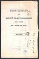 ANTICHI STATI  - LOMBARDO VENETO - TERRITORI ITALIANI D'AUSTRIA - Società Di Mutuo Soccorso Degli Artieri Di Rovereto -  - Unclassified