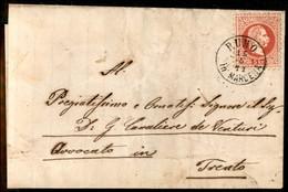 ANTICHI STATI  - LOMBARDO VENETO - TERRITORI ITALIANI D'AUSTRIA - Rumo In Marcena (P.ti 6) Su 5 Kreuzer (37) - Lettera P - Unclassified