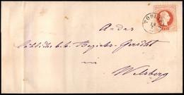 ANTICHI STATI  - LOMBARDO VENETO - TERRITORI ITALIANI D'AUSTRIA - Toblach (P.ti 6) Su 5 Kreuzer (37) - Lettera Per Welsb - Unclassified
