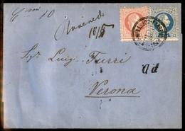 ANTICHI STATI  - LOMBARDO VENETO - TERRITORI ITALIANI D'AUSTRIA - Roveredo 18/5 (manoscritto) + C.mi 10 (manoscritto) +  - Unclassified