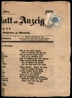 ANTICHI STATI  - LOMBARDO VENETO - TERRITORI ITALIANI D'AUSTRIA - Segnatasse Giornali - Meran Zeitungs Exped (1.4.72) -  - Unclassified