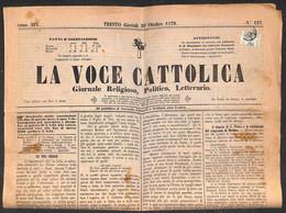 ANTICHI STATI  - LOMBARDO VENETO - TERRITORI ITALIANI D'AUSTRIA - Segnatasse Giornali - Frode Fiscale - 1 Kreuzer (4 - S - Unclassified