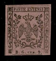 ANTICHI STATI  - MODENA - Segnatasse Giornali - 1853 - 9 Cent Violetto Lillaceo (2a - Segnatasse Giornali) Nuovo Con Gom - Unclassified