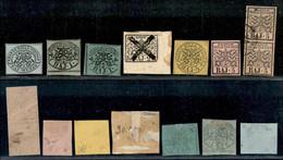 ANTICHI STATI  - STATO PONTIFICIO - 1852 - Piccolo Insieme Di Valori Nuovi - 2 Bai Preannullato (3A) Con Gomma Originale - Unclassified