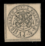 ANTICHI STATI  - STATO PONTIFICIO - 1852 - 4 Bai (5) Nuovo Senza Gomma - Filetti Completi - Molto Bello E Raro - Cert. C - Unclassified