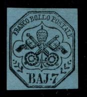 ANTICHI STATI  - STATO PONTIFICIO - 1852 - 7 Bai (8) Nuovo Senza Gomma (1.250) - Unclassified