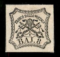ANTICHI STATI  - STATO PONTIFICIO - 1852 - 8 Bai (9) Nuovo Senza Gomma (250) - Unclassified