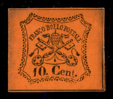 ANTICHI STATI  - STATO PONTIFICIO - 1867 - 10 Cent (17) - Gomma Originale - Leggera Sfaldatura Della Carta In Alto A Sin - Unclassified