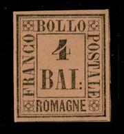 ANTICHI STATI  - ROMAGNE - 1859 - 4 Bai (5) - Gomma Originale - Diena (1.300) - Unclassified