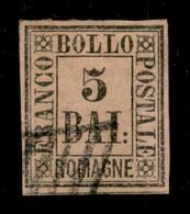 ANTICHI STATI  - ROMAGNE - 1859 - 5 Bai (6) Usato - Cert AG (700) - Unclassified