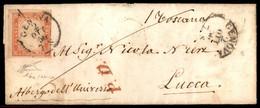 ANTICHI STATI  - SARDEGNA - 40 Cent Vermiglio (16a) Angolo Di Foglio - Letterina Da Genova A Lucca Del 2.10.56 - Molto B - Unclassified
