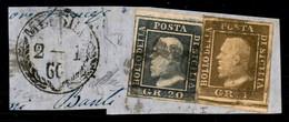 ANTICHI STATI  - SICILIA - Frammento Di Lettera Affrancato Con 1 Grano (3 - Pos 92) + 20 Grana (13 - Pos 8) Da Messina D - Unclassified