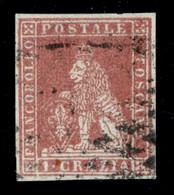 ANTICHI STATI  - TOSCANA - 1851 - 1 Crazia (4) Usato - Molto Bello - Fiecchi (250) - Unclassified