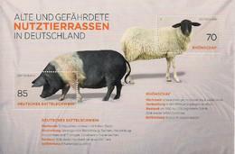 2016 Germany Deutschland  Mi. Bl 81**MNH Nutztierrassen - Blocks & Sheetlets