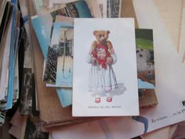 Taddy Bear Girl Children Klarchen Mit Dem Barchen  1912 Old Potcards - Games & Toys
