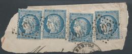 Lot N°60943  Quatre N°60/fragment, Oblit GC 2602 Nantes, Loire-Inférieure (42) - 1871-1875 Ceres