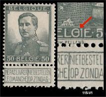 115 V1  (*) Gesloten G In BELGIE - 1912 Pellens