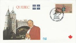 CANADA 1984 VISITE PAPE JEAN PAUL II à QUEBEC - Cartas