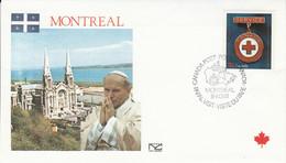 CANADA 1984 VISITE PAPE JEAN PAUL II à MONTREAL - Cartas