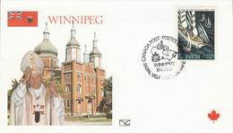 CANADA 1984 VISITE PAPE JEAN PAUL II à WINNIPEG - Cartas