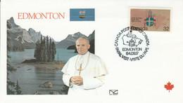 CANADA 1984 VISITE PAPE JEAN PAUL II à EDMONTON - Cartas