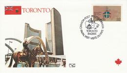 CANADA 1984 VISITE PAPE JEAN PAUL II à TORONTO - Cartas