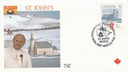 CANADA 1984 VISITE PAPE JEAN PAUL II à ST. JOHN'S - Cartas