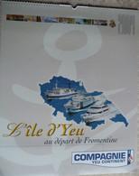 CALENDRIER 2004  COMPAGNIE YEU CONTINENT   -  LES PEINTRES DE LA MARINE - Big : 2001-...