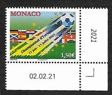 Monaco 2021 - Championnat D'Europe De Football ** - Unused Stamps