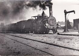 Carte Photo - Locomotive Vapeur Et Wagons En Gare De Tonneins (47) - Trenes