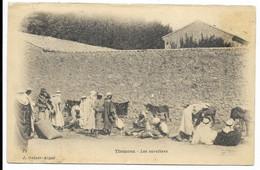 TLEMCEN- Les Savetiers...  Animé   (verso Reste Collage, Coin Pli) - Tlemcen