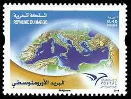 MAROC Emis.Jointe Euromed 1v 2014 Neuf ** MNH - Marruecos (1956-...)