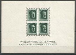 Deutsches Reich Deutschland Germany Mi.Block 7 MNH / ** / Postfrisch 1937 - Bloques