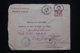 MAROC - Enveloppe Du Gouvernement Pour L'Ingénieur Du Canal De Suez Et Redirigé En Europe En 1913, à Voir - L 97212 - Brieven En Documenten