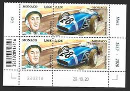 Monaco 2021 - Yv N° 3272 & 3273 ** - Stirling Moss - Ongebruikt