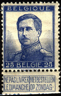 Belgium 1912 Mi 102I King Albert I With Engravers Name MH - 1912 Pellens