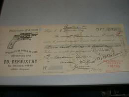 CAMBIALE 1909 FABRIQUE D'ARMES DD.DEBOUXTAY REVOLVERS FINS-BELGIQUE - Bills Of Exchange