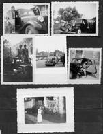 LOT DE 19 PHOTOS - AUTOMOBILE CITROEN TRACTION DE 1937 A 1955 - SCANS RECTO/VERSO - A NE PAS MANQUER. - Cars
