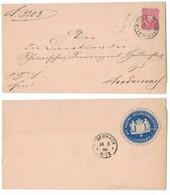 EW255    Deutsches Reich 1888 - Brief Preuss Staatsanwaltschaft - Limburg Nach Andernach - Covers & Documents
