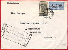 Aa2328 - CYPRUS - Postal History -  Propaganda On COVER:  TURKISH BOMBS ! 1964 - Cartas